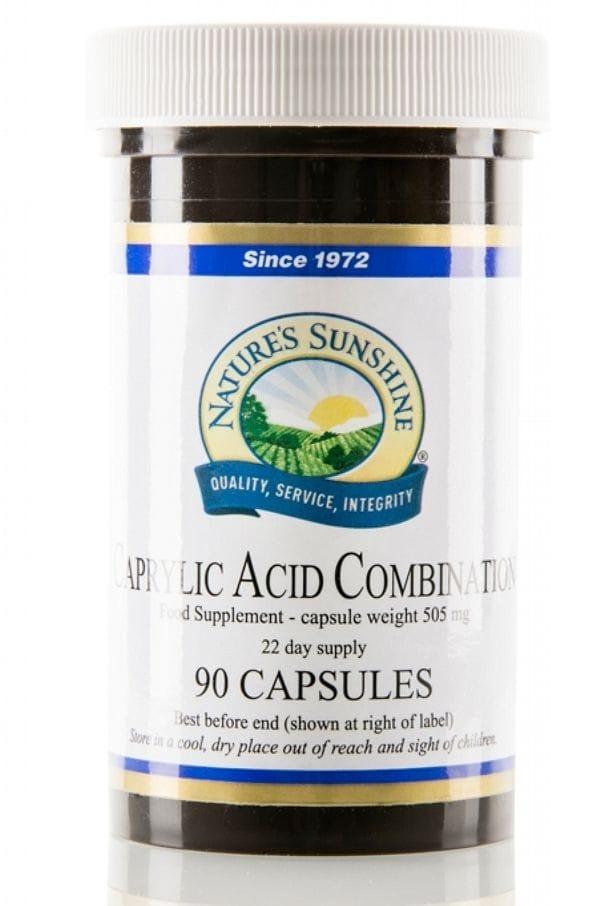 Caprylic Acid, Prebiotic. 90 Capsules
