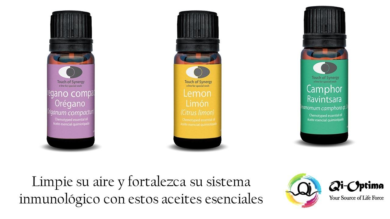 Aceites Esenciales – (Cinnamomum camphora)(Limón cítrico)(Orégano compacto)