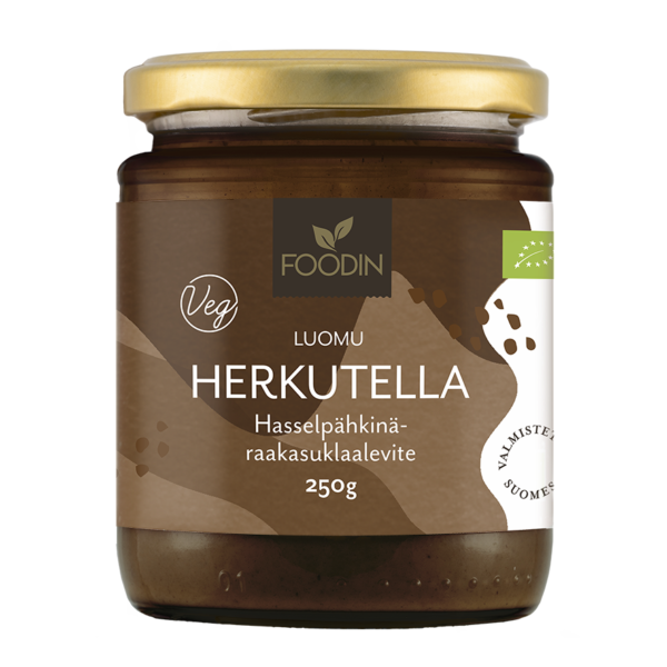 Hazelnut-raw chocolate spread Delicious, organic 250g