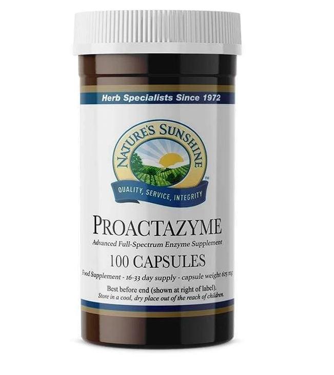 Proactazyme 100 cápsulas de origen vegetal